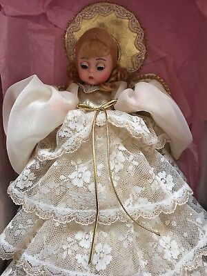 Madame Alexander Ivory Lace With Gold Trim Angel Tree Topper #852 - Mib