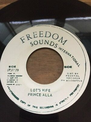 "Original Ja Freedom Sounds 7"" Prince Alla"" Lots Wife"" Listen"