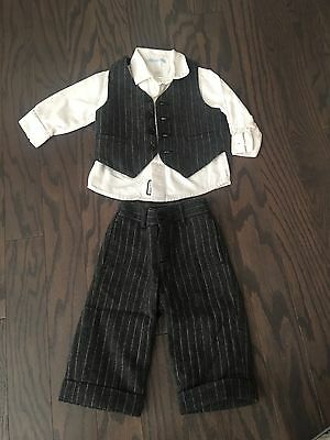 Janie and Jack suit; boys 6-12 mos