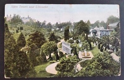 Nice Vintage Postcard Alton Towers, Near Uttoxeter, Staffordshire 1905
