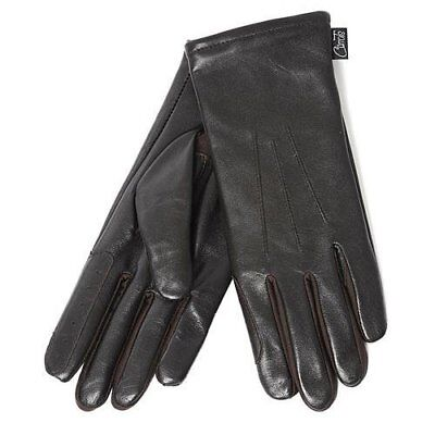 SALE Carrots Soft Leather Show Riding Gloves - Small/Medium Black/Brown RRP £20