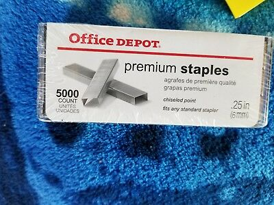1 BOX of 5,000 High-Capacity Staples (Office Depot Item 344 279) GREAT PURCHASE