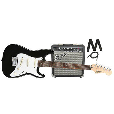 Squier Strat SS Pack Short Scale - Black, New!