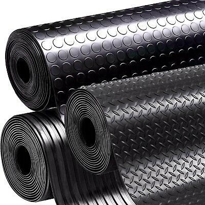 Rubber Garage Flooring Matting 1.0M Wide X 3Mm Thick - A Grade Easy To Cut