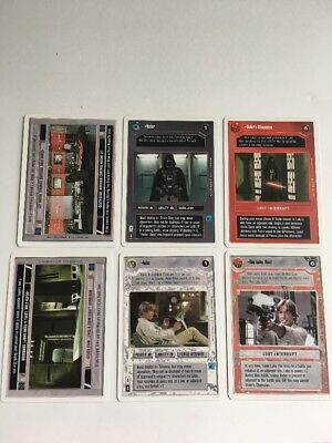 Premiere 2-player Complete Fixed 6 Card Set! Decipher Star Wars CCG  Vader, Luke