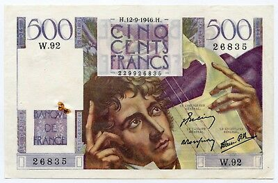 500 Francs Chateaubriand 12-9-1946  W.92