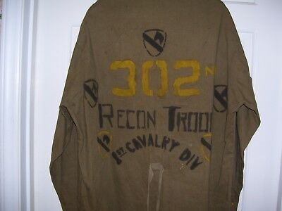 Theater Made WWII 1st Cavalry 302nd Recon Troop Field Jacket