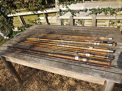 Collection of 6 Split Cane Fishing Rods In Need Of Restoration