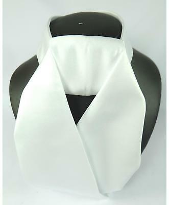 Cream *SALE* ShowQuest Ready Tied Satin Riding Competition Stock White