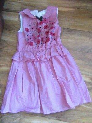 Pretty Red Check Poppy GIRLS DRESS By NEXT For Age 7 Years Fully Lined