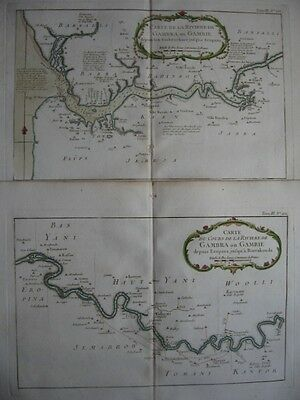 1764 - BELLIN - 2 Maps GAMBIA River RIVIERE GAMBIE