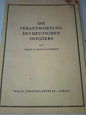 WW2 German officers responsibilities book wehrmacht kriegsmarine luftwaffe