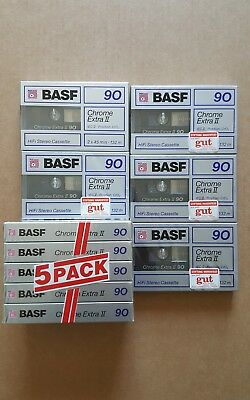 BASF CHROME EXTRA II 90 (x10) : 1988-89 : Made in France : NEW & SEALED
