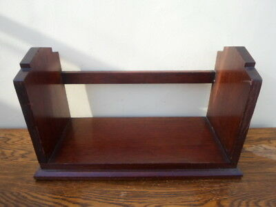 Vintage mahogany art deco book trough, home made feel, stepped ends