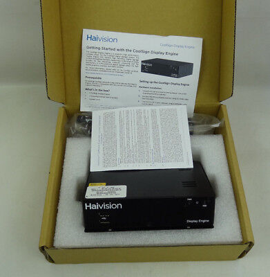 New Haivision CoolSign Display Engine - Display Signage Player