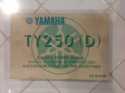Genuine Yamaha TY 250 (D) owners manual.