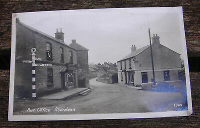 Lilywhite Photo Postcard.  Ruardean Post Office.signpost,car,and Shop...(Run 9)