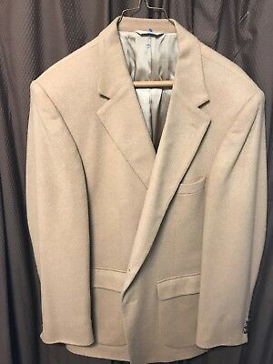 Gently Used Mens Camel Hair Sports Coat Sz 44 Reg
