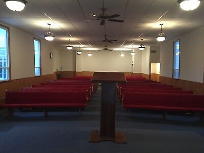 Church Pews - Hard wood & Comfort Cushioned Seats (QTY 16)