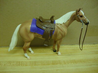 Breyer Palamino with Saddle and Bridle