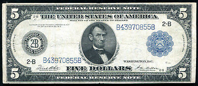 FR. 851a 1914 $5 FIVE DOLLARS FRN FEDERAL RESERVE NOTE NEW YORK, NY VERY FINE