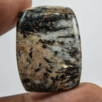 24Cts  100% Natural  Astrophillite Cushion 26X20 Cabochon Loose Gemstone