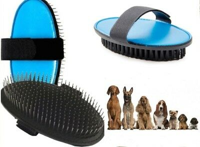 Ancol Ergo Flexible Palm Pin Pad - Bristle Palm Pad Grooming Dog Brush