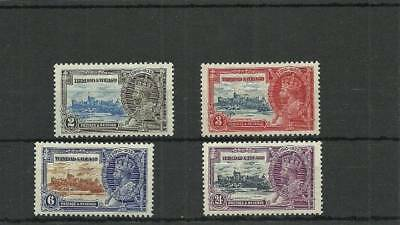 Trinidad & Tobago Sg239-242 1935 Silver Jubilee Set   Mounted Mint