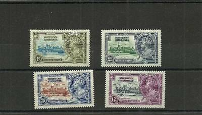 Northern Rhodesia Sg18-21 1935 Silver Jubilee Set Mounted Mint