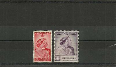 North Borneo Sg350-351 1948 Silver Wedding Set Mnh