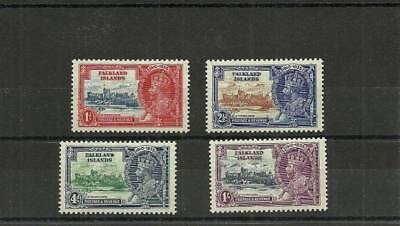 Falkland Islands Sg139-142 1935 Silver Jubilee Set Mounted Mint