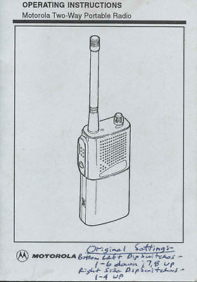 Motorola Two-way Portable Radio Manual