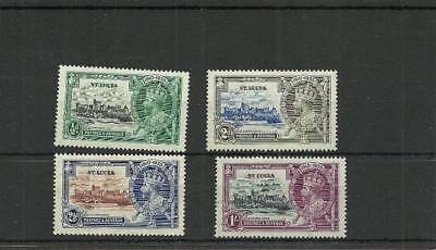 St Lucia Sg10-112 1935 Silver Jubilee Set  Mounted Mint