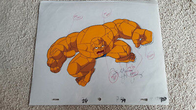 Animation Cel Thing/Ben Grimm/Fantastic Four Marvel Comics