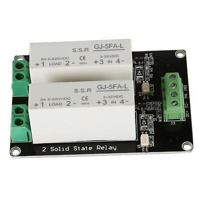 3X(3-32V DC 2 Channel SSR Solid State Relay high-low trigger 5A 5v12v For A W7B4