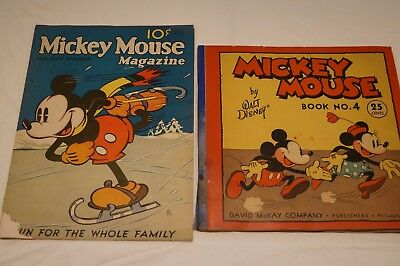 Mickey Mouse Magazine, Vol. 1, Dec 1935 Holiday Number, & Book No. 4, 1934