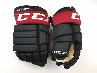"New! Ccm Arizona Coyotes Nhl Pro Stock Hockey Player Gloves 14"" Ventless 4 Roll"