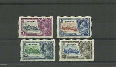 Mauritius Sg245-248 1935 Silver Jubilee Set  Mounted Mint