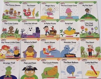 Kindergarten Grade 1 First Funny Book Lot Early Learn To Read Level C D Set