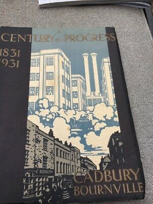 Rare CADBURY BOURNVILLE  -1831-1931 CENTURY OF PROGRESS