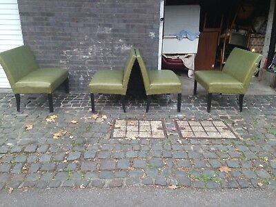 4 X 1950s Vinyl Booth Bench Seats Vintage Diner Pub Bar Kitchen Rock N Roll