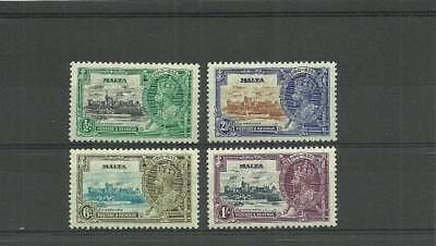 Malta Sg210-213 1935 Silver Jubilee Set  Mounted Mint