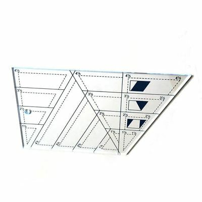 DIY Quilting Sewing Patchwork Ruler Trapezoid Polygon Foot Ladder Tailor A7 X2Y6