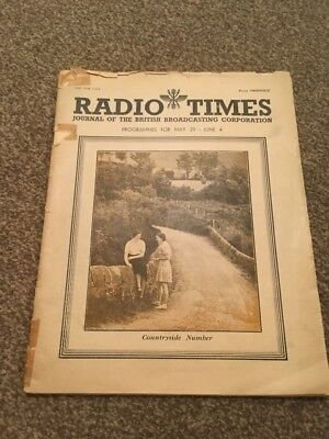 Radio Times. Unissued Edition. 29 May - 4 June 1938