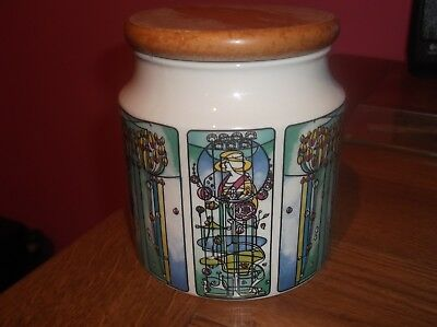 Dunoon Storage Jar Wooden Lid Charles Rennie Mackintosh Design Renfrew