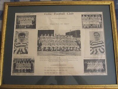 Very Rare Framed Celtic FC 1967 Poster (Never Seen Before)
