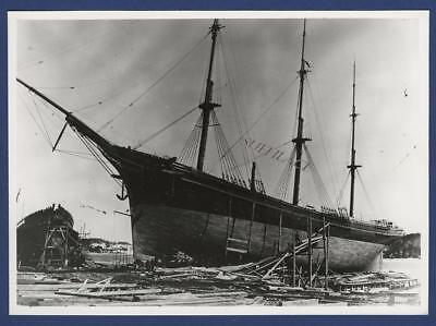 Sailing Ship American Full Rigger Govenor Robie Bath Maine Fitting Out Foundered
