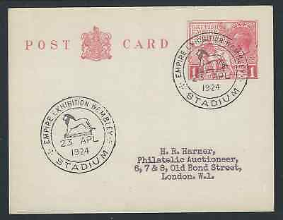 British Empire Exhibition 1924 1d Red Postcard Forged FDC Postmark  23 Apr 24