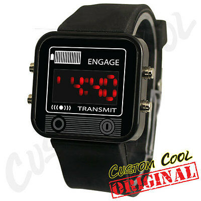 Knight Rider KITT Communicator Comlink Themed LED Digital Watch