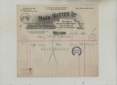 Nelson  Manufacturers  Invoice.